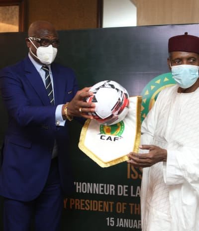 Hayatou decorated Honorary CAF President