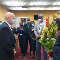 FIFA President Infantino arrives in Cameroon for Total CHAN opener