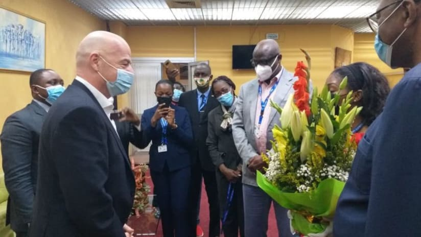 FIFA President in Yaounde