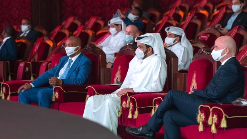 CAF President Motsepe attends FIFA Arab Draw in Doha_