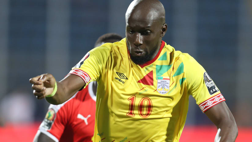 Mickael Pote of Benin during the 2019 Africa Cup of Nations Finals Benin and Guinea-Bissau at Ismailia Stadium, Ismailia, Egypt on 29 June 2019