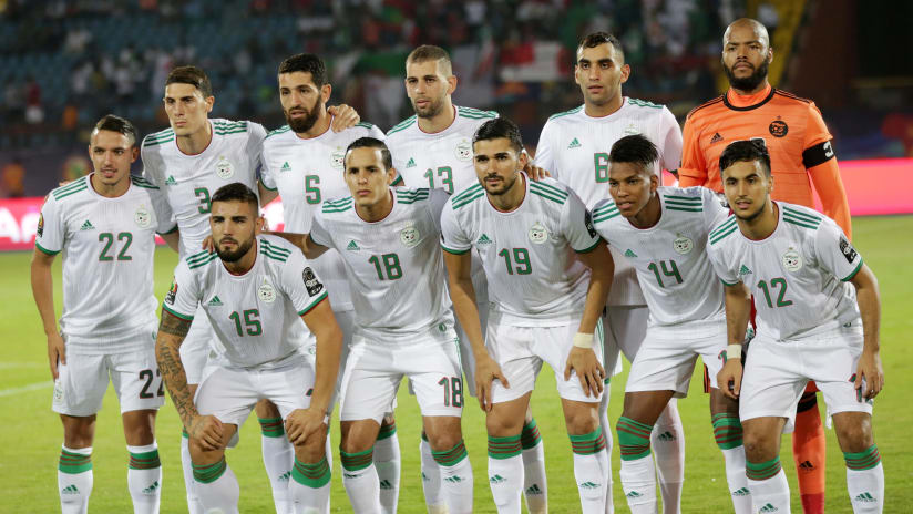Algeria Team picture during the 2019 Africa Cup of Nations Finals Tanzania and Algeria at Al Salam Stadium, Cairo, Egypt on 01 July 2019 ©Samuel Shivambu/BackpagePix