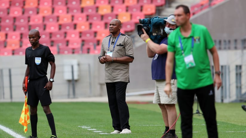 Molefi Ntseki, coach of South Africa during the 2021 Afcon Qualifier match between Sao Tome and South Africa at the Nelson Mandela Bay Stadium, Port Elizabeth on the 16 November 2020 ©Muzi Ntombela:BackpagePix