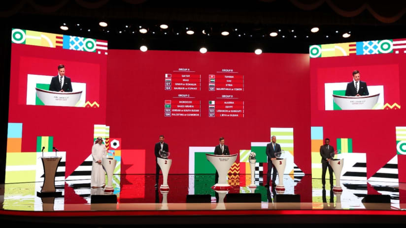 CAF President Motsepe attends FIFA Arab Draw in Doha-