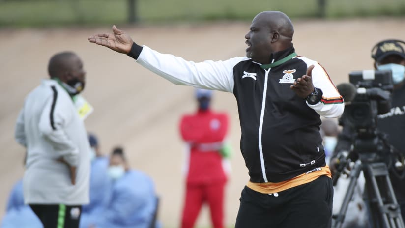 George Chilufya, coach of Zambia during the 2020 COSAFA U17 Youth Championship football match between Zambia and South Africa at Gelvandale Stadium, Port Elizabeth on 26 November 2020 ©Gavin Barker:BackpagePix