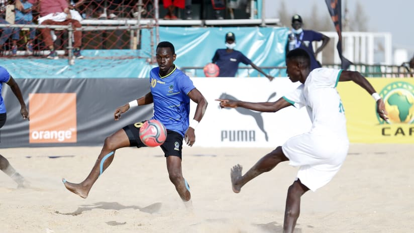 General View during the 2021 Beach Soccer African Cup of Nations game between Senegal and Tanzania in Thies, Saly in Senegal on 26 May 2021 © Alain SuffoBackpagePix (2)