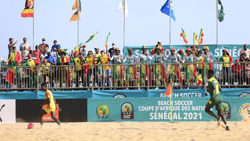 General View during the 2021 Beach Soccer African Cup of Nations game between Senegal and Uganda in Thies, Saly in Senegal on 23 May 2021 © Alain SuffoBackpagePix