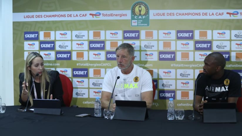 Press Conference - CAF CL Final - Kaizer Chiefs..