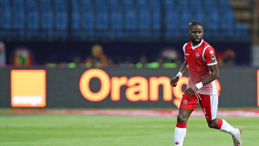 Gael Bigirimana of Burundi during the 2019 Africa Cup of Nations Finals match between Nigeria and Burundi at the Alexandria Stadium, Alexandria on the 22 June 2019