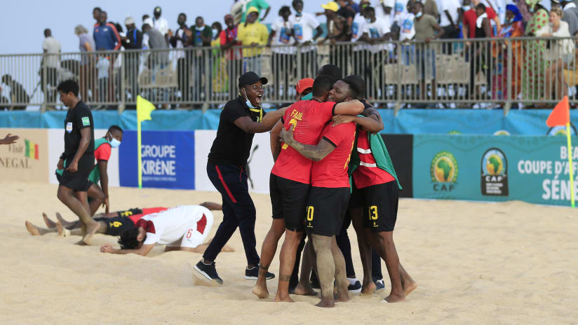 General View during the 2021 Beach Soccer African Cup of Nations game between Mozambique and Morocco in Thies, Saly in Senegal on 25 May 2021 © Alain SuffoBackpagePix