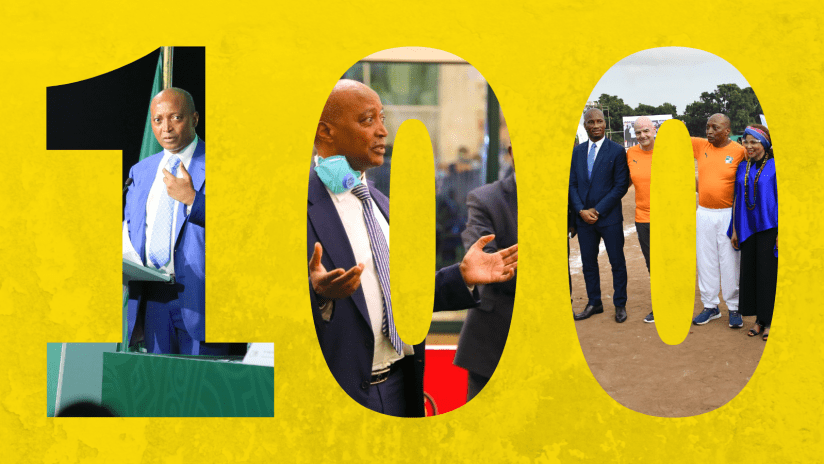 CAF President Motsepe: First 100 days in Photos