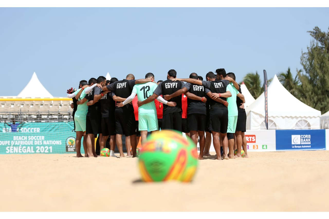 General view Egypt Training ahead of the 2021 Beach Soccer African Cup of Nations in Thies, Saly in Senegal on 22 May 2021 © Alain SuffoBackpagePix (3)
