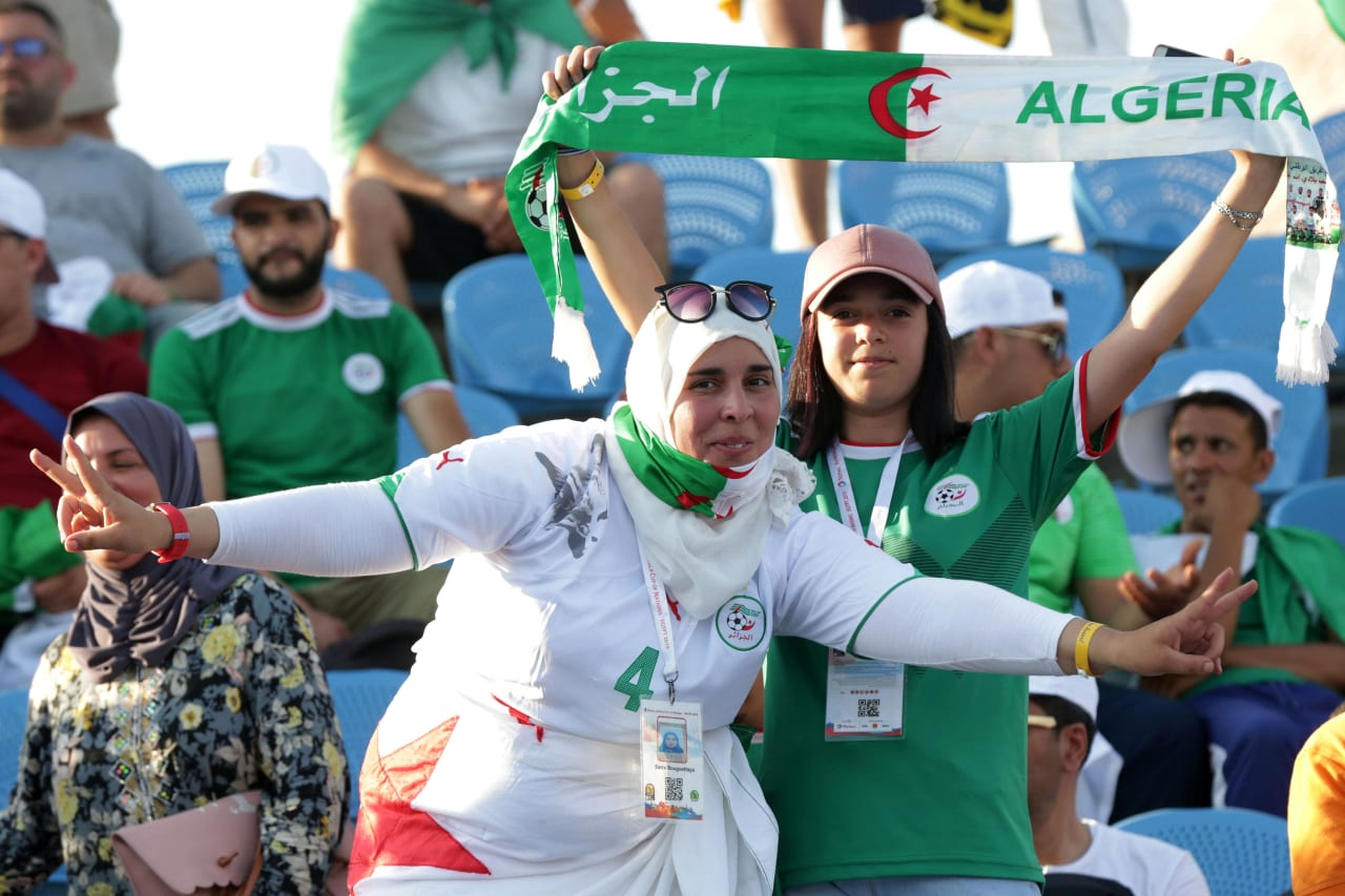 Algeria fans during the 2019 Africa Cup of Nations Finals, quarterfinals match between Ivory Coast and Algeria at Suez Stadium, Suez, Egypt on 11 July 2019 ©Samuel Shivambu/BackpagePix