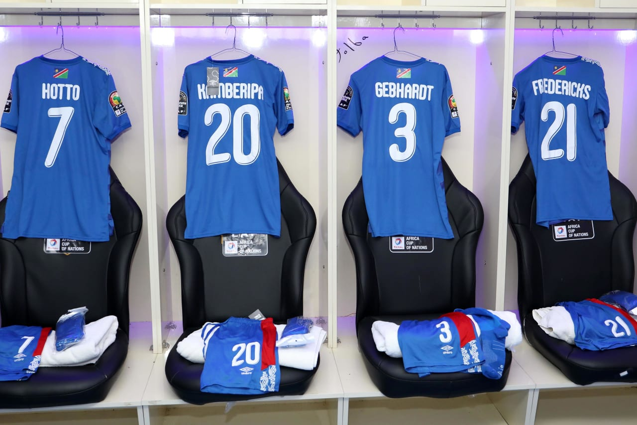 Namibia change room during the 2019 Africa Cup of Nations match between Namibia and Ivory Coast at the 30 June Stadium, Cairo on the 01 July 2019 ©Muzi Ntombela/BackpagePix