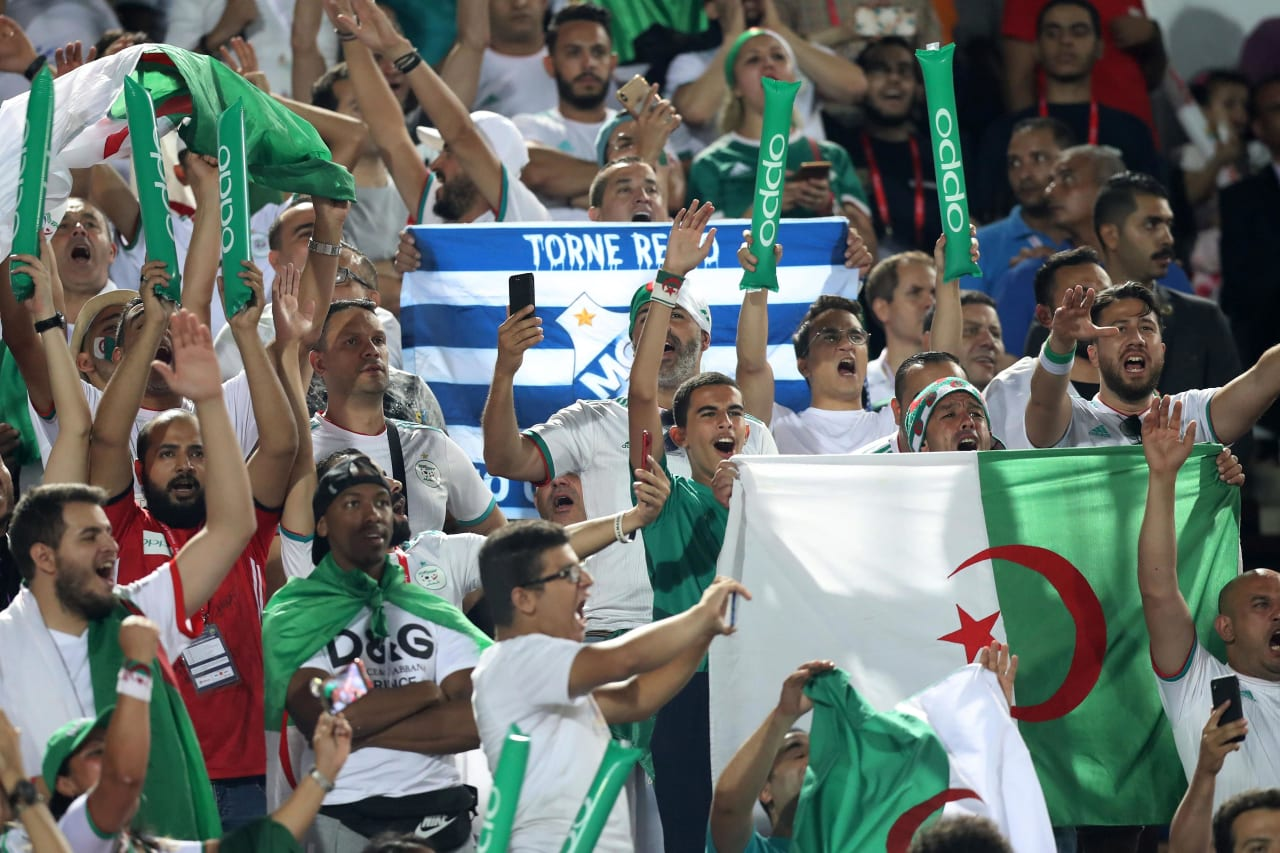 Algeria fans during the 2019 Africa Cup of Nations Finals, Final match between Senegal and Algeria at Cairo International Stadium, Cairo, Egypt on 19 July 2019 ©Samuel Shivambu/BackpagePix