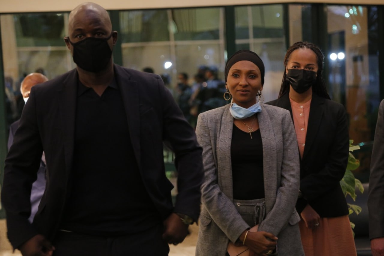 Dr Patrice Motsepe arrived at the headquarters5