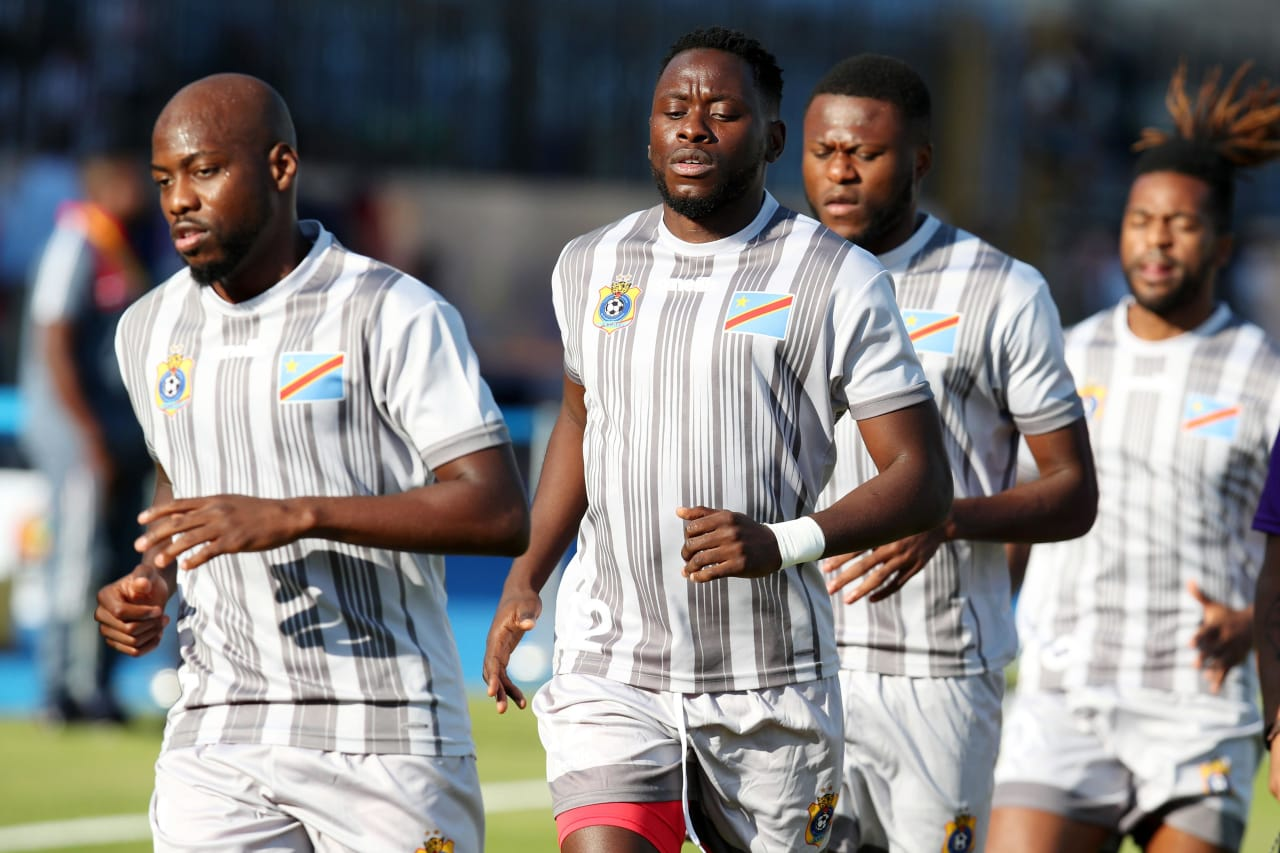 DR Congo players warming up during the 2019 Africa Cup of Nations Last 16 match between Madagascar and DR Congo at the Alexandria Stadium, Alexandria on the 07 July 2019 ©Muzi Ntombela/BackpagePix