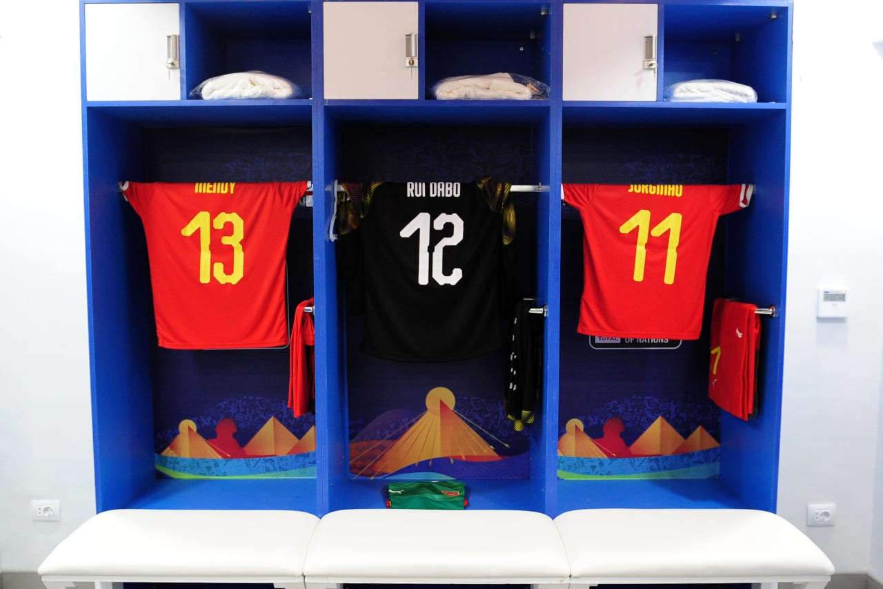 Guinea-Bissau dressing room before the 2019 Africa Cup of Nations Finals football match between Guinea Bissau and Ghana at the Suez Stadium, Suez, Egypt on 02 July 2019 © Ryan Wilkisky/BackpagePix