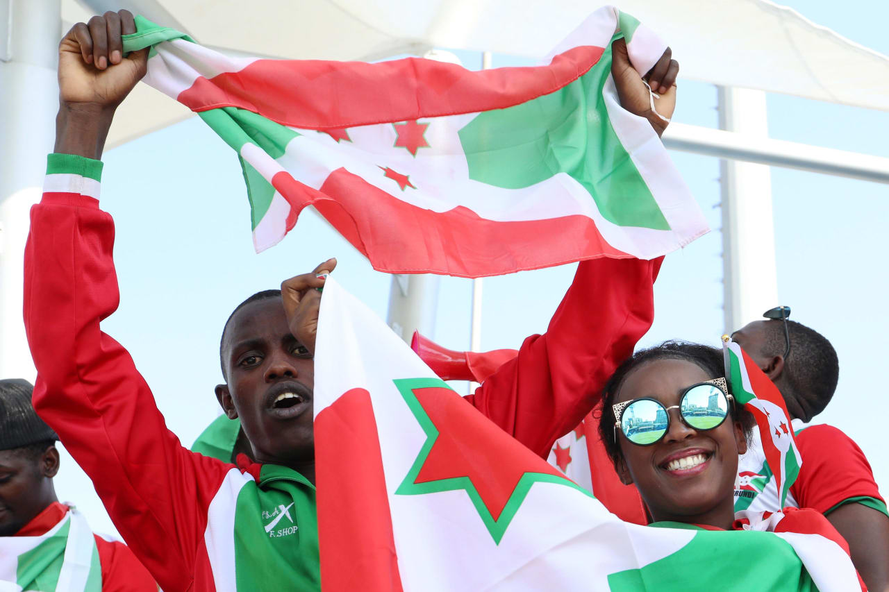 Burundi fans during the 2019 Africa Cup of Nations match between Madagascar and Burundi at the Alexandria Stadium, Alexandria on the 27 June 2019 ©Muzi Ntombela/BackpagePix