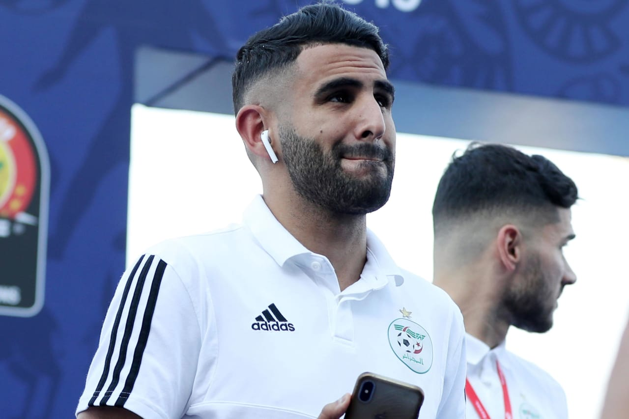 Riyad Mahrez of Algeria arrives during the 2019 Africa Cup of Nations Finals, quarterfinals match between Ivory Coast and Algeria at Suez Stadium, Suez, Egypt on 11 July 2019 ©Samuel Shivambu/BackpagePix
