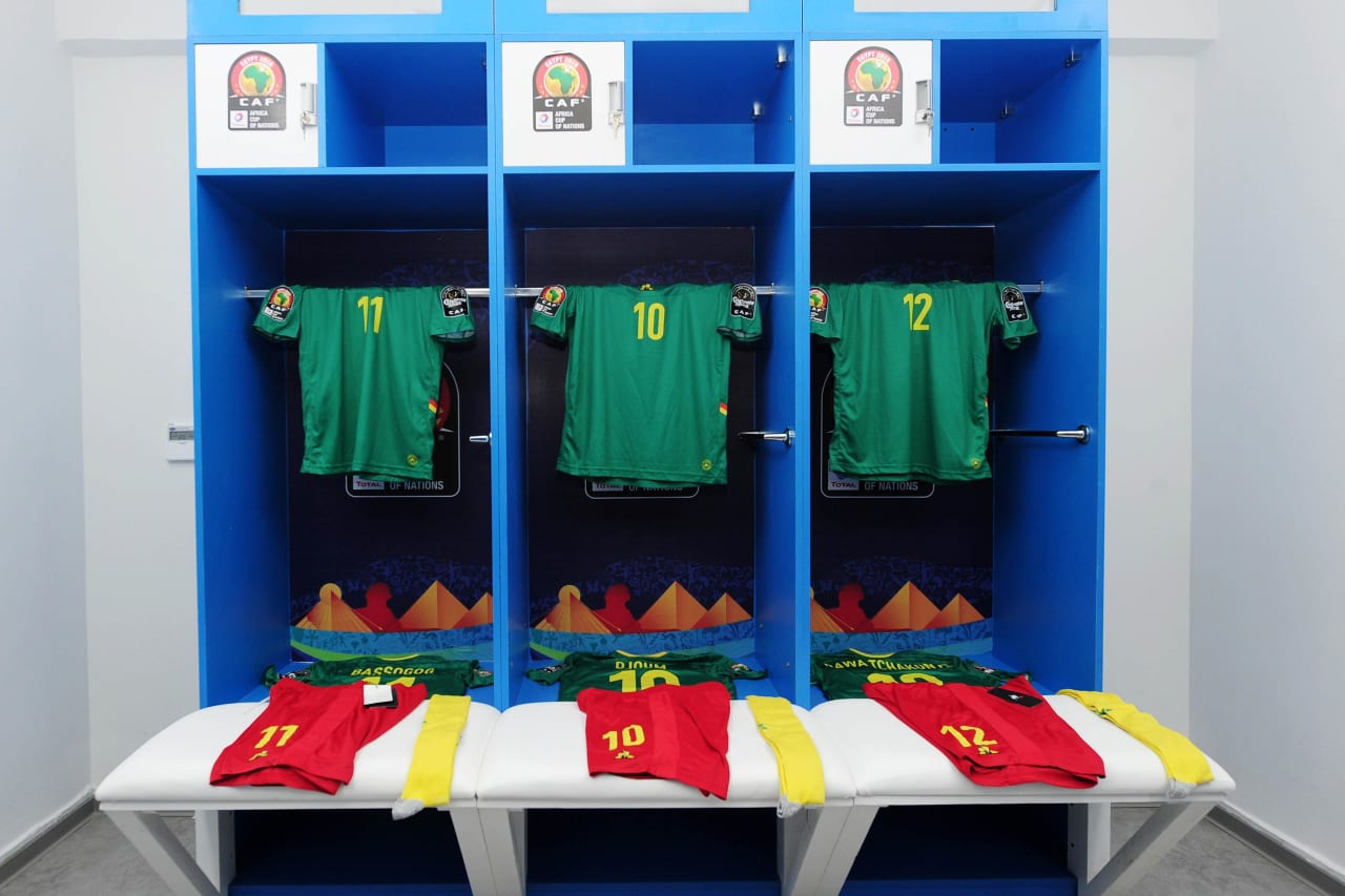Cameroon dressing room shortly before the 2019 Africa Cup of Nations Finals game between Cameroon and Guinea-Bissau at Ismailia Stadium in Ismailia, Egypt on 25 June 2019 © Ryan Wilkisky/BackpagePix