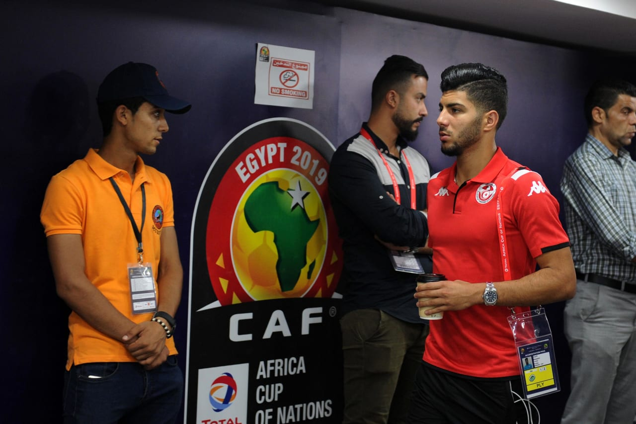 Tunisia team arrivals before the Africa Cup of Nations 2019 Finals quarterfinal game between Madagascar and Tunisia at Al Salam Stadium in Cairo, Egypt on 11 July 2019 © Ryan Wilkisky/BackpagePix