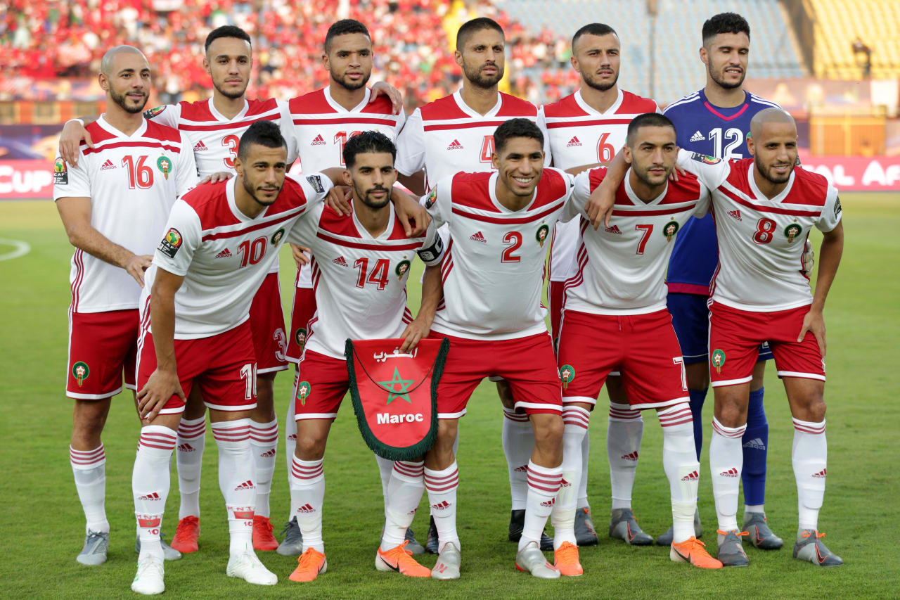 Morocco Team picture during the 2019 Africa Cup of Nations Finals South Africa and Morocco at Al Salam Stadium, Cairo, Egypt on 01 July 2019 ©Samuel Shivambu/BackpagePix
