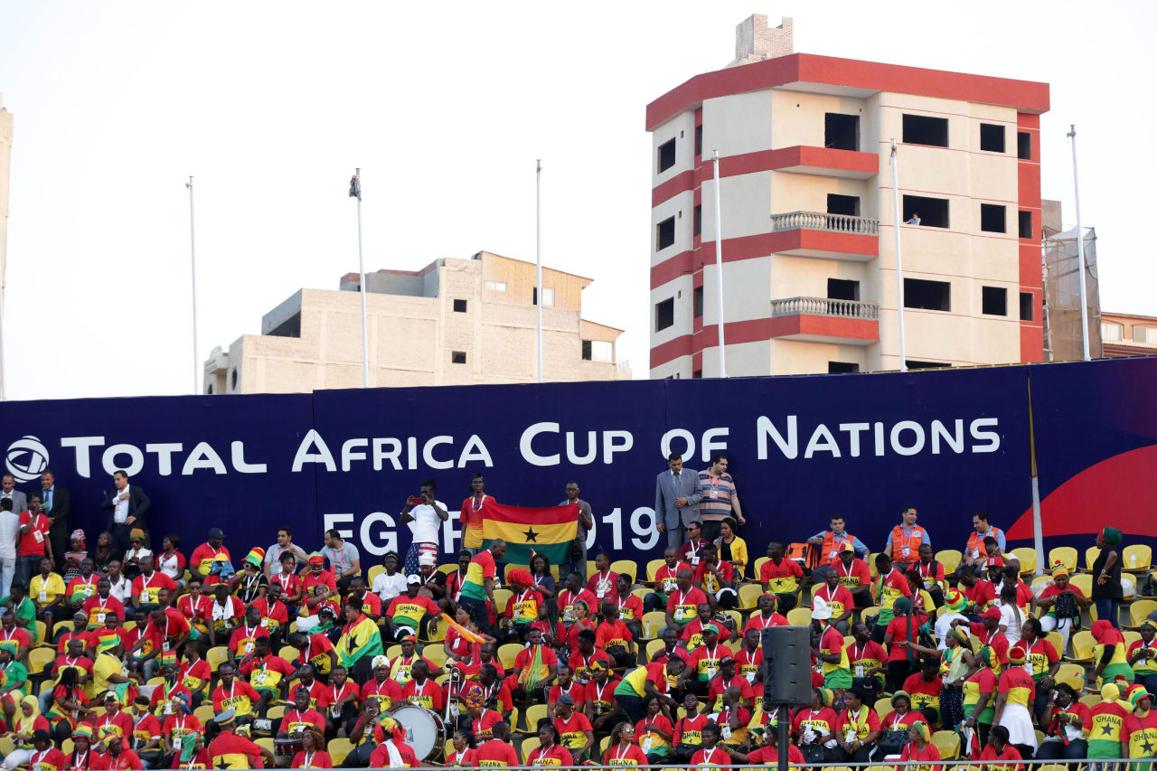 Ghana fans during the 2019 Africa Cup of Nations Finals Cameroon and Ghana at Ismailia Stadium, Ismailia, Egypt on 29 June 2019 ©Samuel Shivambu/BackpagePix