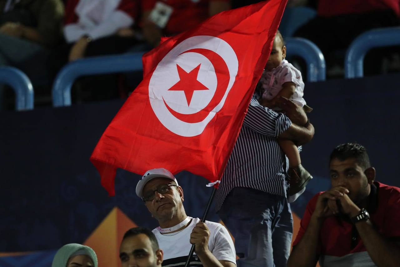 Tunisia Fans during the 2019 Africa Cup of Nations Finals football match between Mauritania and Tunisia at the Suez Stadium, Suez, Egypt on 02 July 2019 ©Gavin Barker/BackpagePix