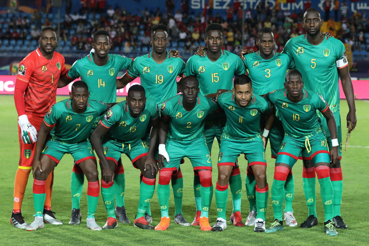 Mauritania Team Picture during the 2019 Africa Cup of Nations Finals football match between Mauritania and Tunisia at the Suez Stadium, Suez, Egypt on 02 July 2019 ©Gavin Barker/BackpagePix