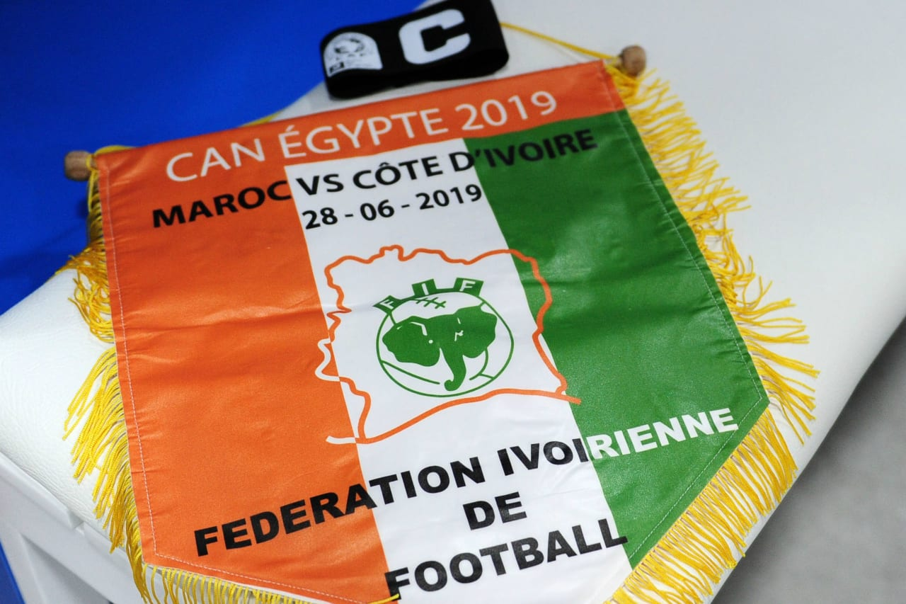 General view inside the Ivory Coast dressing room before the 2019 Africa Cup of Nations Finals match between Morocco and Ivory Coast at Al Salam Stadium in Cairo, Egypt on 28 June 2019 © Ryan Wilkisky/BackpagePix
