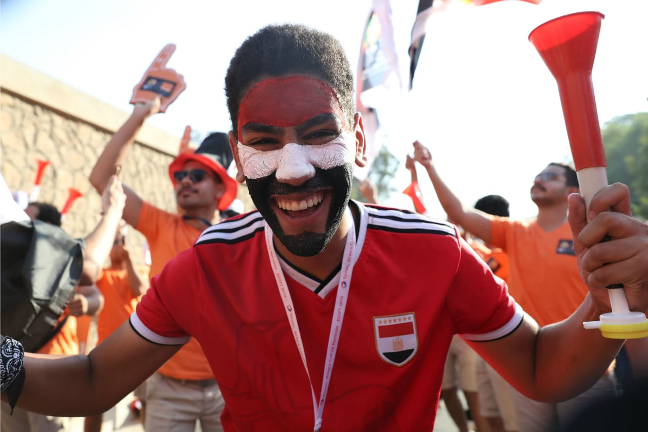 Egypt fans arrives during the 2019 Africa Cup of Nations Finals match between Egypt and Zimbabwe at Cairo International Stadium, Cairo, Egypt on 21 June 2019 ©Samuel Shivambu/BackpagePix