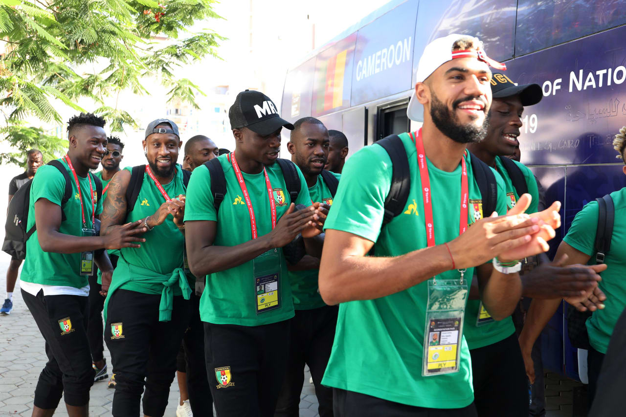 Cameroon player arrival during the 2019 Africa Cup of Nations match between Benin and Cameroon at the Ismailia Stadium, Ismailia on the 02 July 2019 ©Muzi Ntombela/BackpagePix