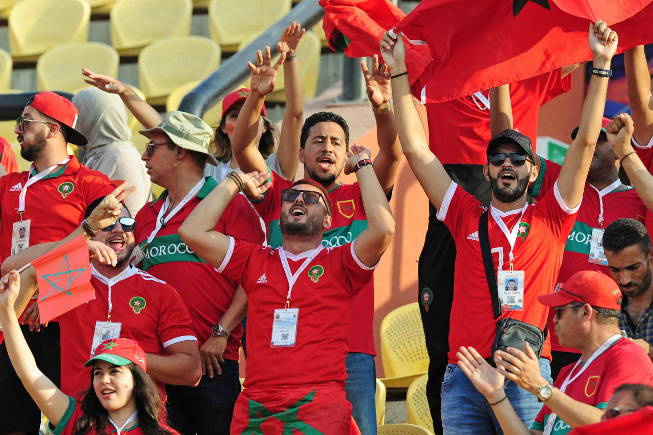 Morocco fans before the 2019 Africa Cup of Nations Finals match between Morocco and Ivory Coast at Al Salam Stadium in Cairo, Egypt on 28 June 2019 © Ryan Wilkisky/BackpagePix