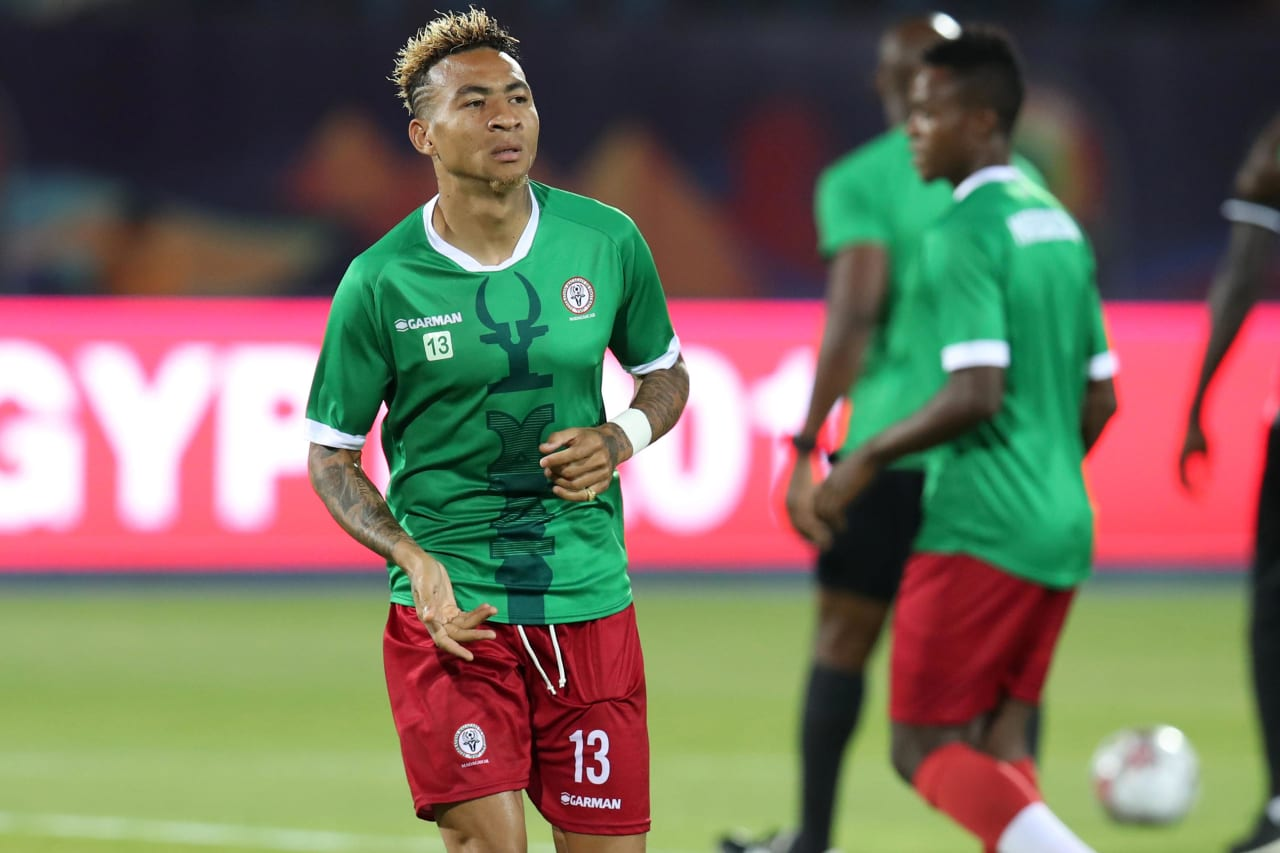 Anicet Andrianantenaina of Madagascar during the 2019 Africa Cup of Nations Quarterfinals match between Madagascar and Tunisia at the Al Salam Stadium, Cairo on the 10 July 2019 ©Muzi Ntombela/BackpagePix