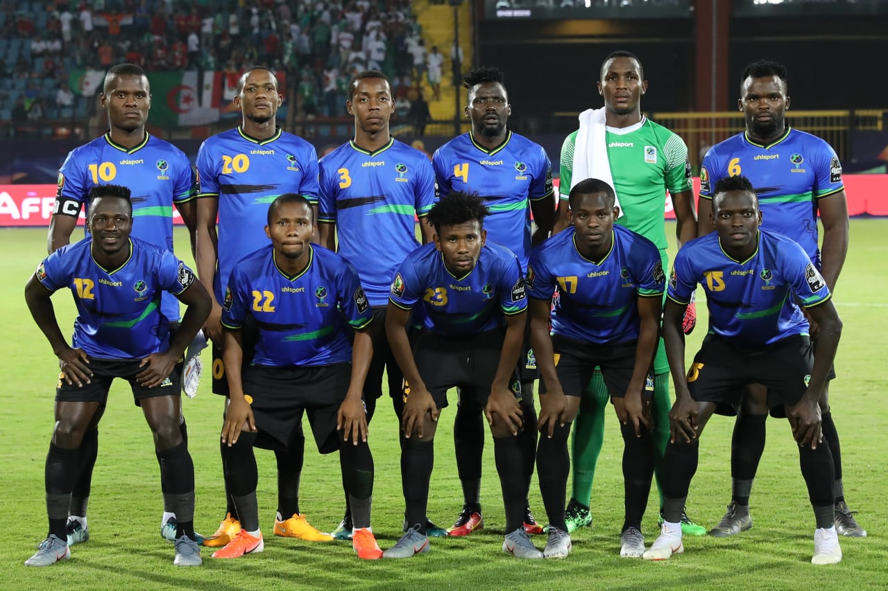 Tanzania Team Picture during the 2019 Africa Cup of Nations Finals football match between Tanzania and Algeria at the Al Salam Stadium, Cairo, Egypt on 01 July 2019 ©Gavin Barker/BackpagePix