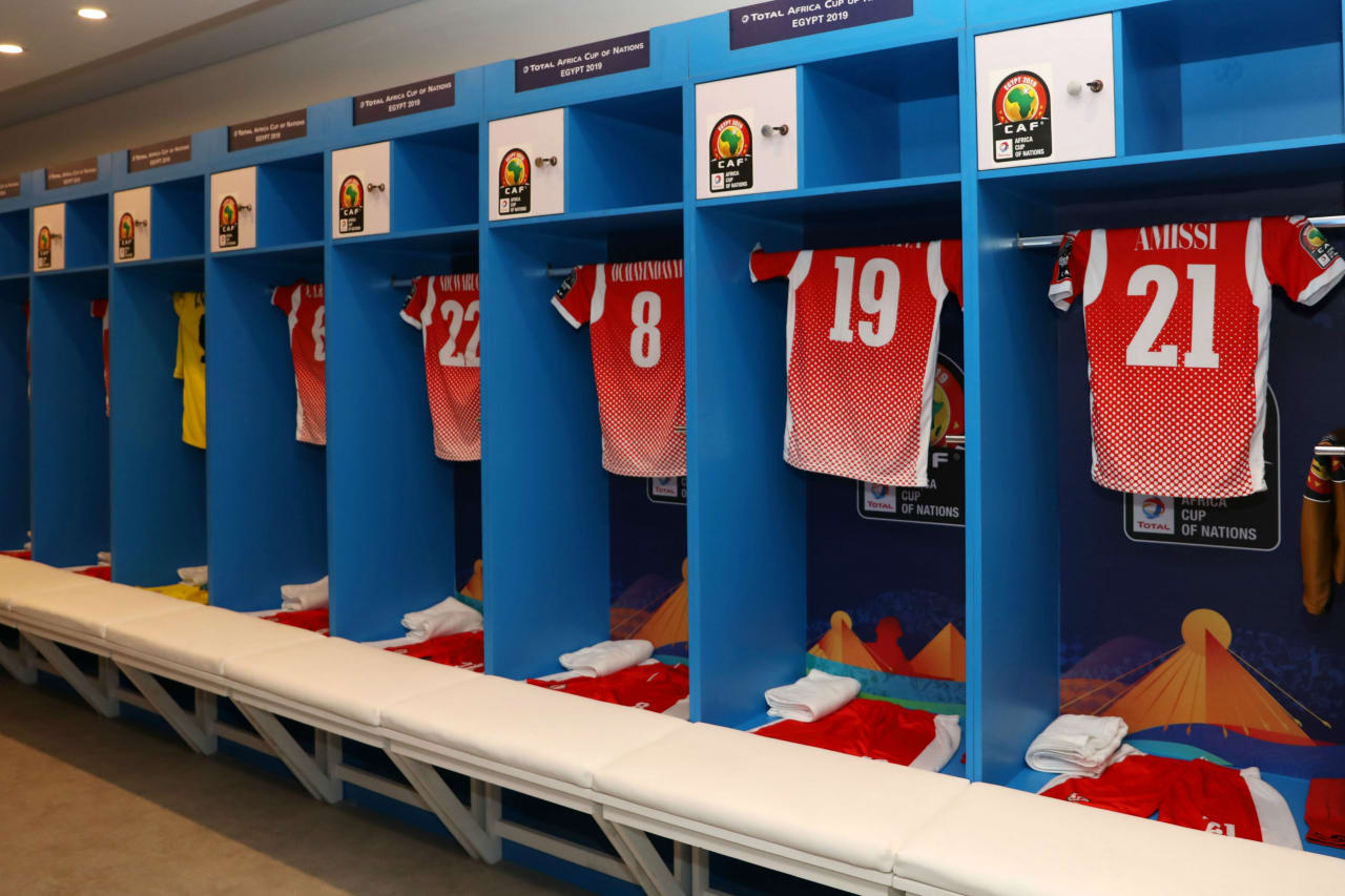 Burundi change room during the 2019 Africa Cup of Nations match between Madagascar and Burundi at the Alexandria Stadium, Alexandria on the 27 June 2019 ©Muzi Ntombela/BackpagePix