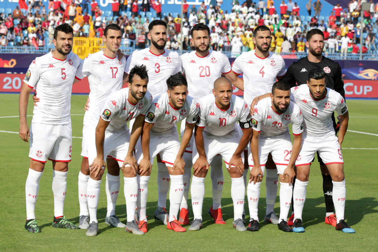 Tunisia Team picture during the 2019 Africa Cup of Nations Finals match between Tunisia and Mali at Suez Stadium, Suez, Egypt on 28 June 2019 ©Samuel Shivambu/BackpagePix