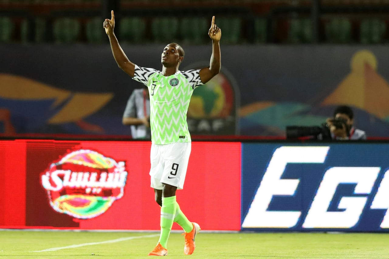 Odion Jude Ighalo of Nigeria celebrates goal during the 2019 Africa Cup of Nations Finals, 3rd and 4th place match between Tunisia and Nigeria at Al Salam Stadium, Cairo, Egypt on 17 July 2019 ©Samuel Shivambu/BackpagePix
