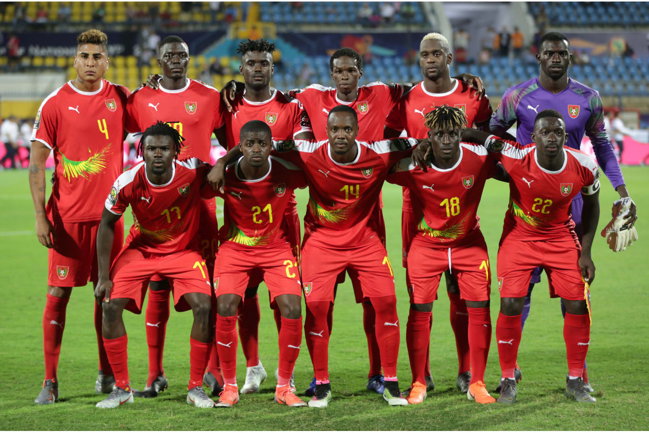 Guinea-Bissau Team picture during the 2019 Africa Cup of Nations Finals Benin and Guinea-Bissau at Ismailia Stadium, Ismailia, Egypt on 29 June 2019