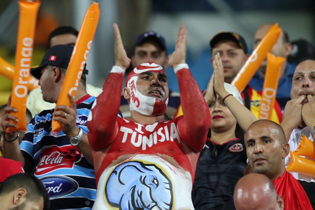 Tunisia fans during the 2019 Africa Cup of Nations Last 16 match between Ghana and Tunisia at the Ismailia Stadium, Ismailia on the 08 July 2019 ©Muzi Ntombela/BackpagePix