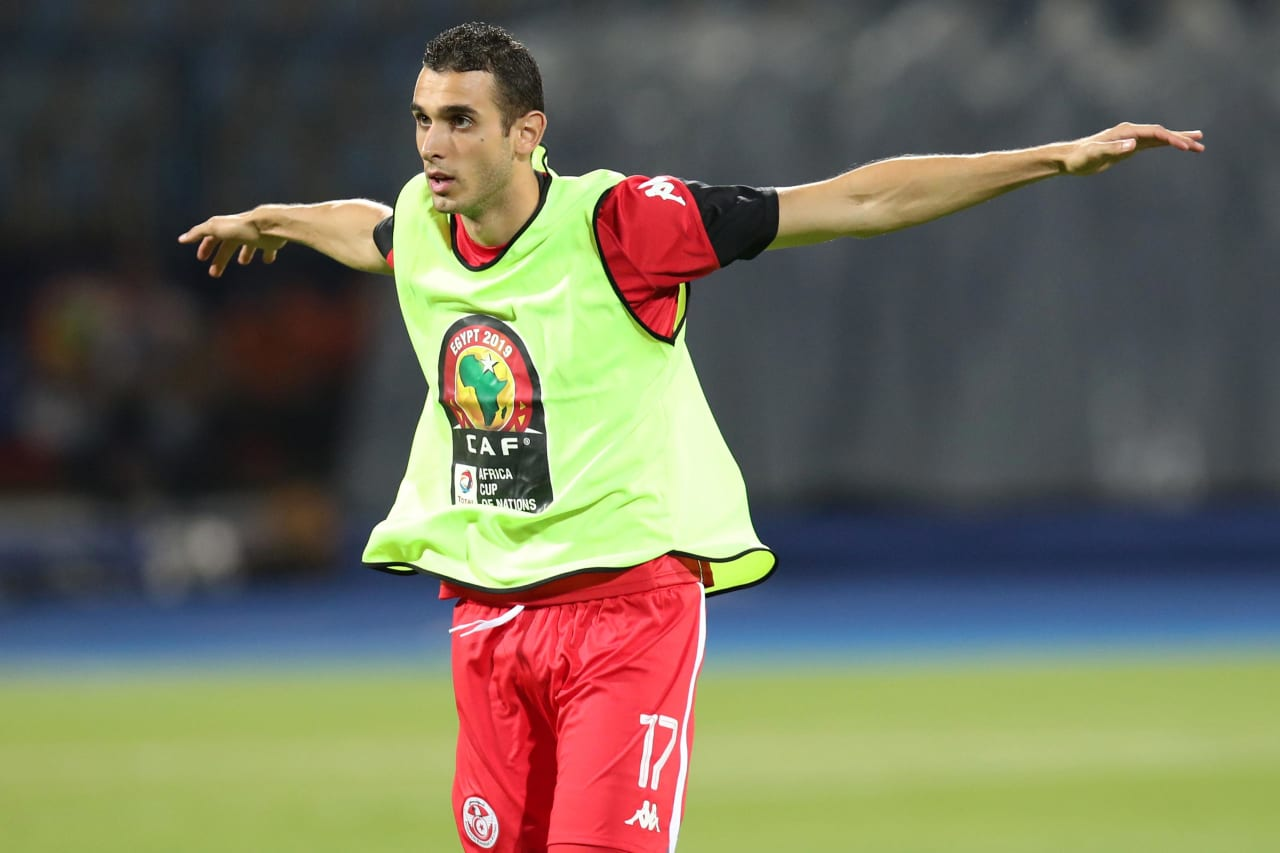 Ellyes Joris Skhiri of Tunisia during the 2019 Africa Cup of Nations Last 16 match between Ghana and Tunisia at the Ismailia Stadium, Ismailia on the 08 July 2019 ©Muzi Ntombela/BackpagePix