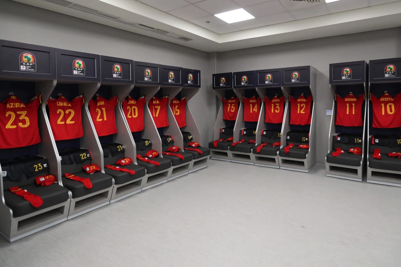 Uganda changeroom during the 2019 Africa Cup of Nations Finals football match between DR Congo and Uganda  at the Cairo International Stadium, Cairo, Egypt on 22 June 2019 ©BackpagePix