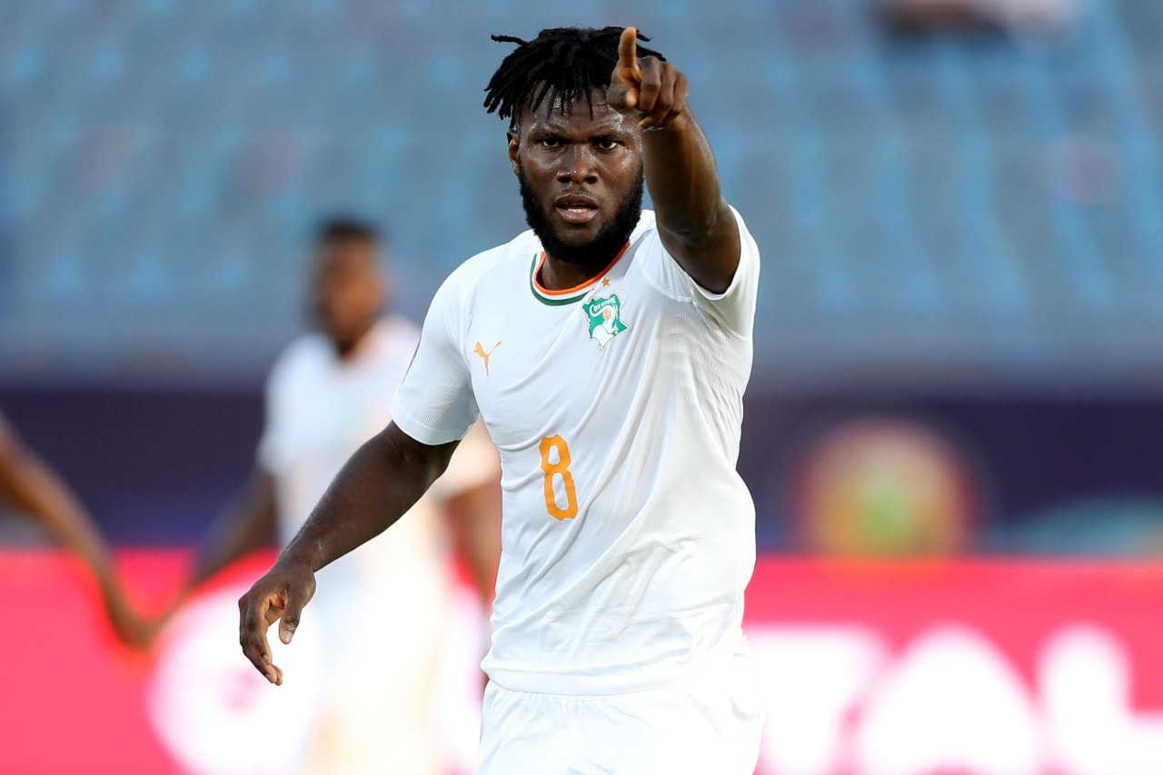 Franck Kessie of Ivory Coast during the 2019 Africa Cup of Nations Finals last 16 match between Mali and Ivory Coast at Suez Stadium, Suez, Egypt on 08 July 2019 ©Samuel Shivambu/BackpagePix