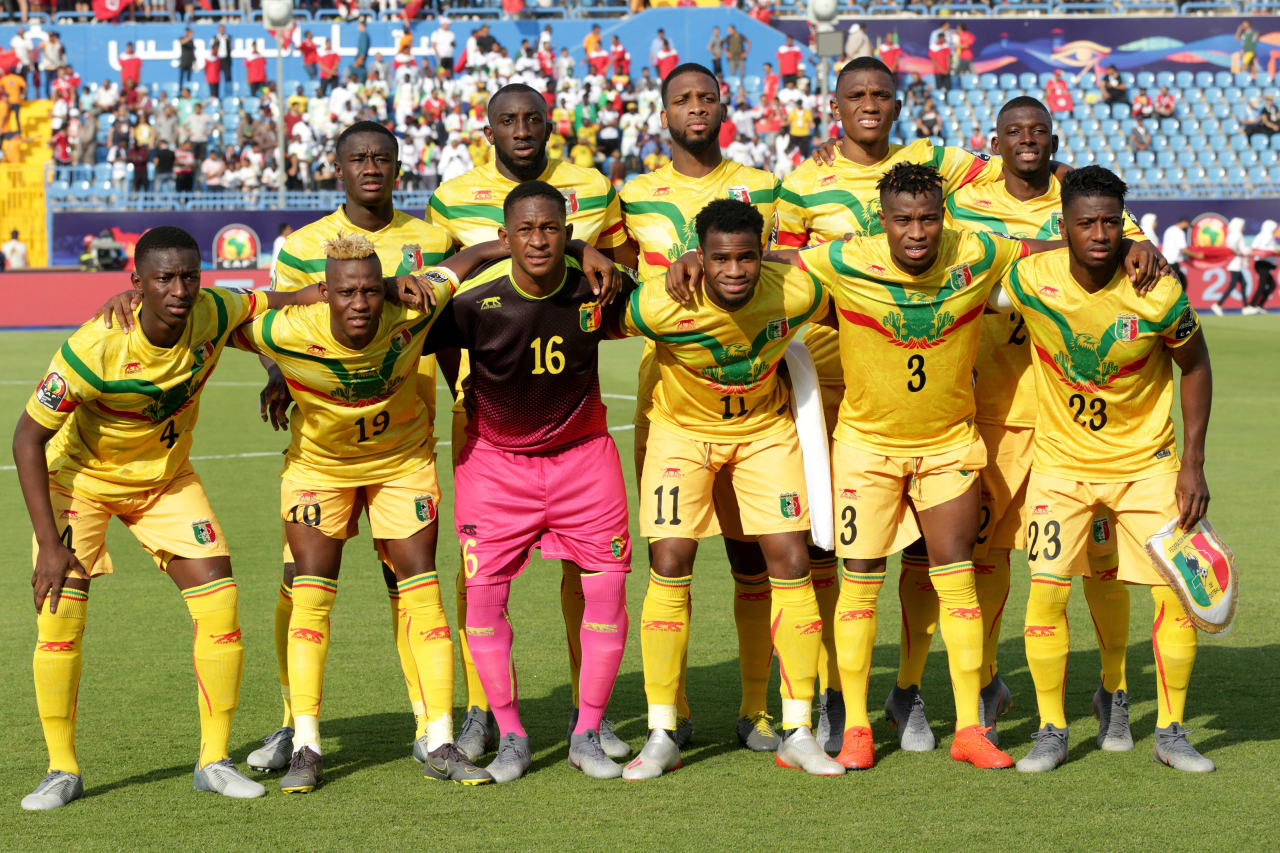 Mali Team picture during the 2019 Africa Cup of Nations Finals match between Tunisia and Mali at Suez Stadium, Suez, Egypt on 28 June 2019 ©Samuel Shivambu/BackpagePix