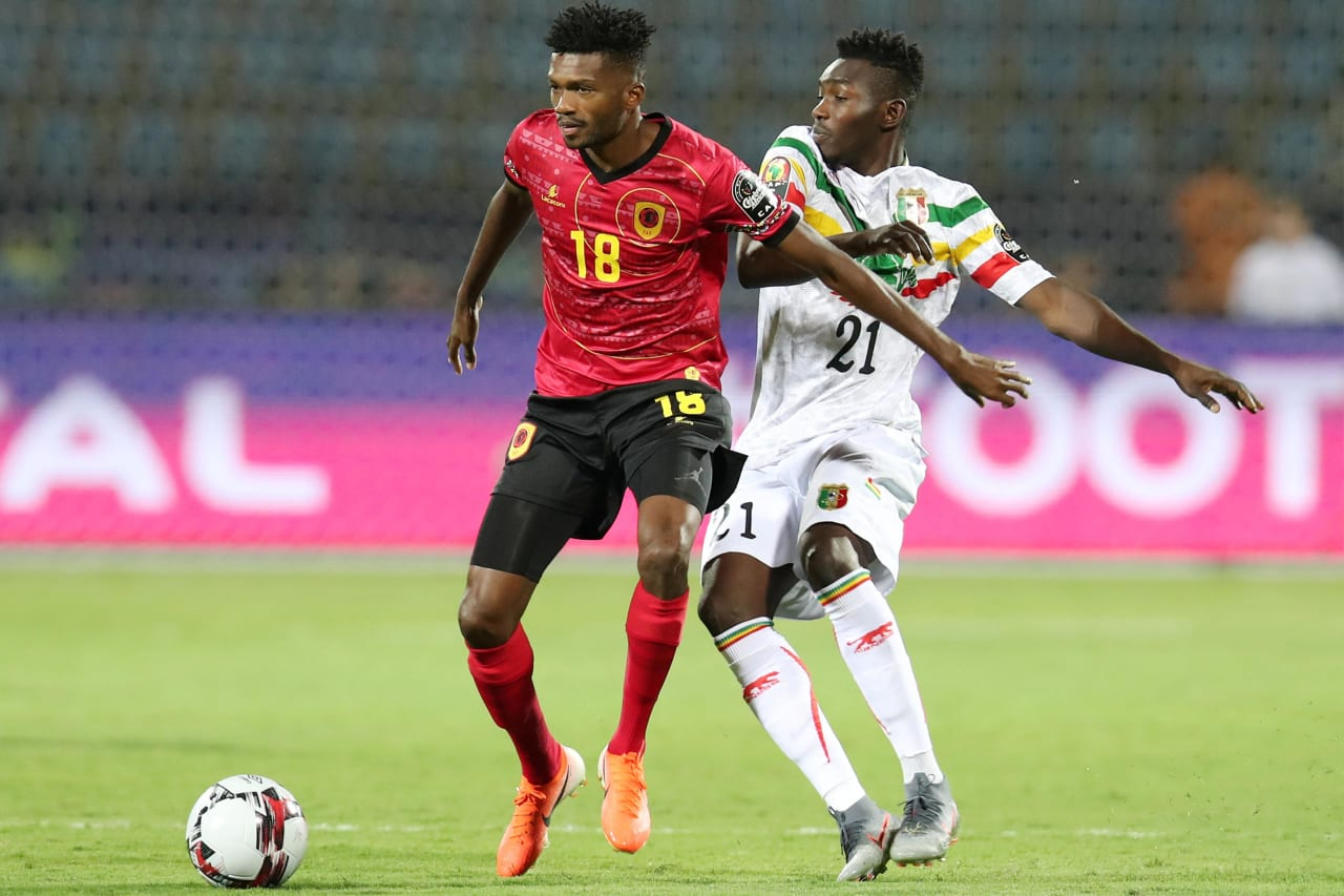 Herenilson de Carmo of Angola shields Adama Traore Noss of Mali during the 2019 Africa Cup of Nations match between Angola and Mali at the Ismailia Stadium, Ismailia on the 02 July 2019 ©Muzi Ntombela/BackpagePix