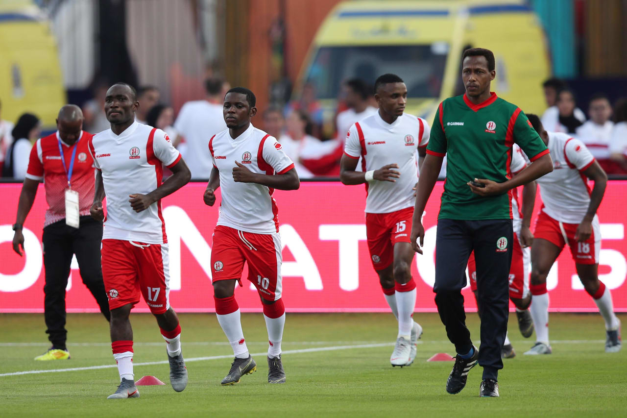 Burundi players warming up during the 2019 Africa Cup of Nations Finals match between Nigeria and Burundi at the Alexandria Stadium, Alexandria on the 22 June 2019 ©Muzi Ntombela/BackpagePix