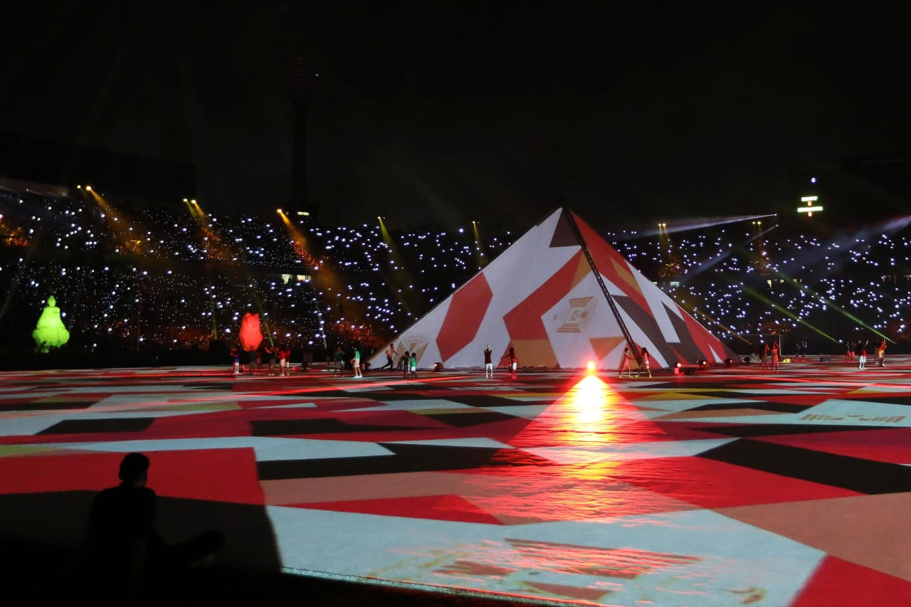General View of opening ceremony during the 2019 Africa Cup of Nations Finals football match between Egypt and Zimbabwe at the Cairo International Stadium, Cairo, Egypt on 21 June 2019 ©BackpagePix