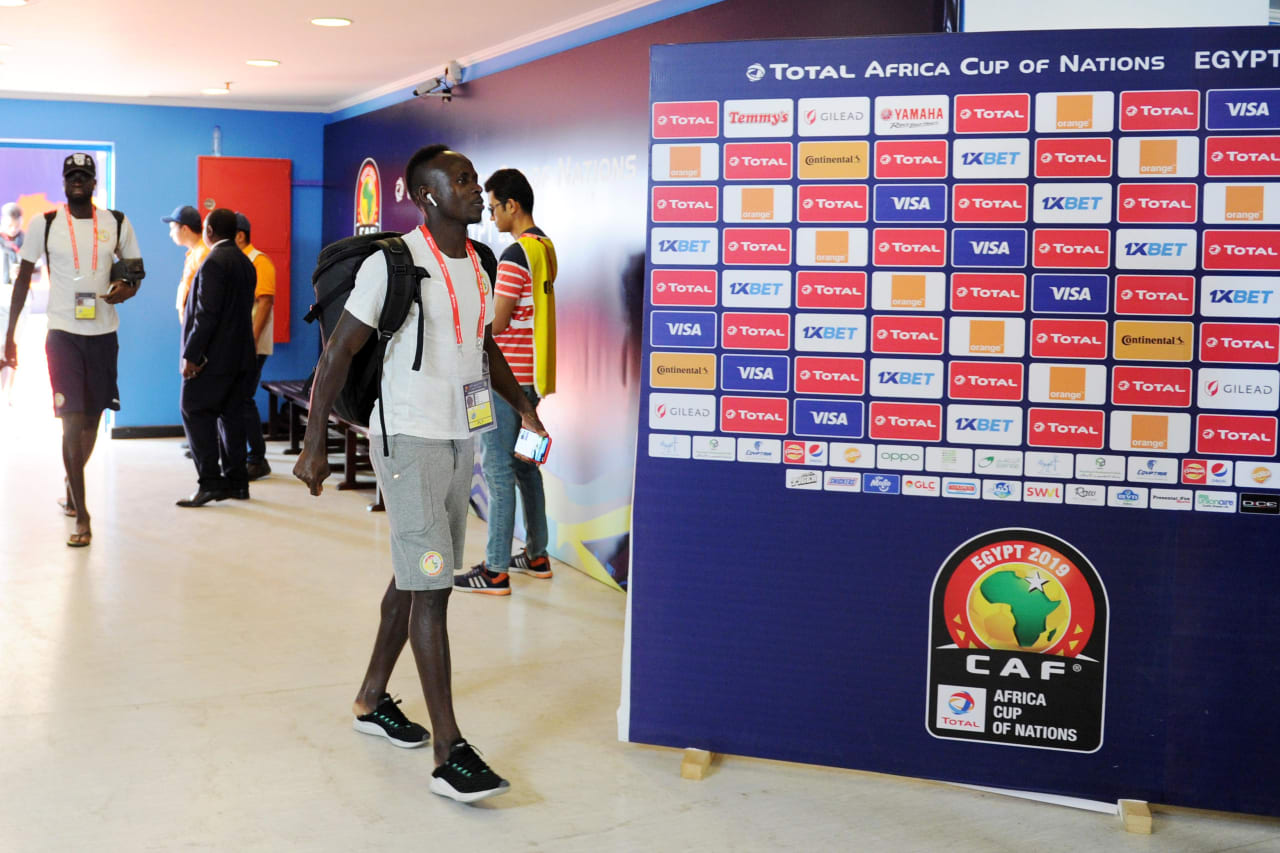 Sadio Mane of Senegal arrives before the Africa Cup of Nations 2019 Finals semifinal game between Senegal and Tunisia at 30 June Stadium in Cairo, Egypt on 14 July 2019 © Ryan Wilkisky/BackpagePix