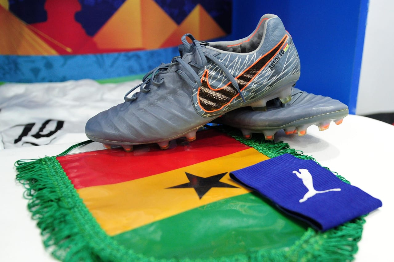 Ghana dressing room before the 2019 Africa Cup of Nations Finals football match between Guinea Bissau and Ghana at the Suez Stadium, Suez, Egypt on 02 July 2019 © Ryan Wilkisky/BackpagePix